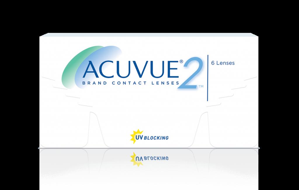ACUVUE® 2  Brand Contact Lenses (Etafilcon A) para ojos que no toleran los lentes de hidrogel de silicona