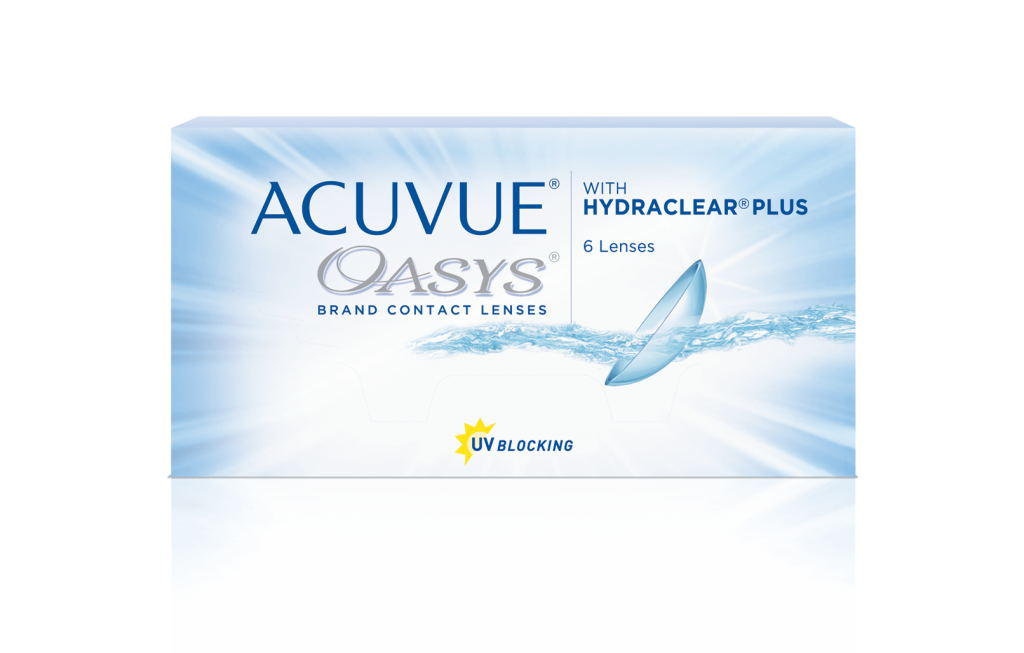 ACUVUE OASYS® Brand Contact Lenses with HYDRACLEAR® PLUS (Senofilcon A)